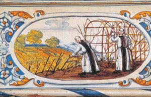 Moines de l'Abbaye de Fontfroide inventeurs du premier vin effervescent