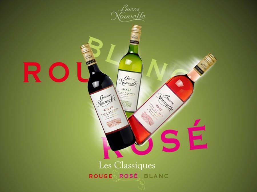 Bonne Nouvelle : marque de boisson issue de vin totalement désalcoolisé