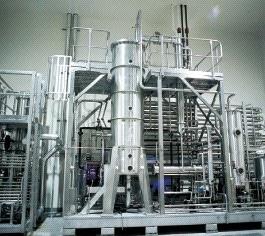 Colonne de cônes rotatifs pour une distillation sous vide